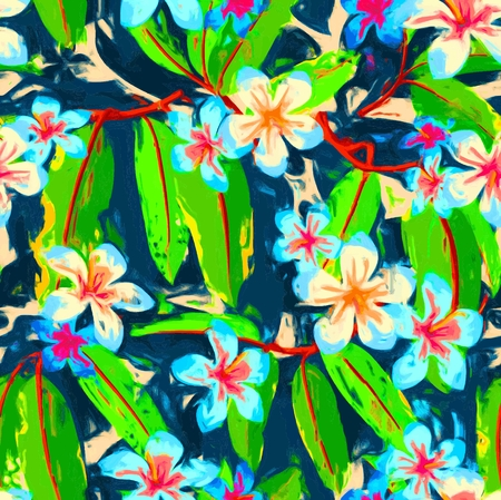Beautiful Tropical Pattern Stock Illustratie