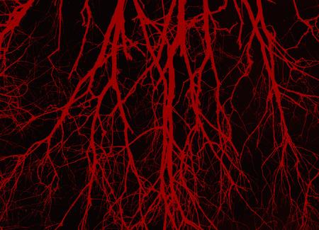 Silhouette de veines de sang