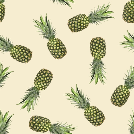 Pineaplle Seamless Pattern Фото со стока - 124299772
