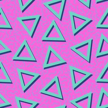 Eighties Neon Colorful Seamless Pattern