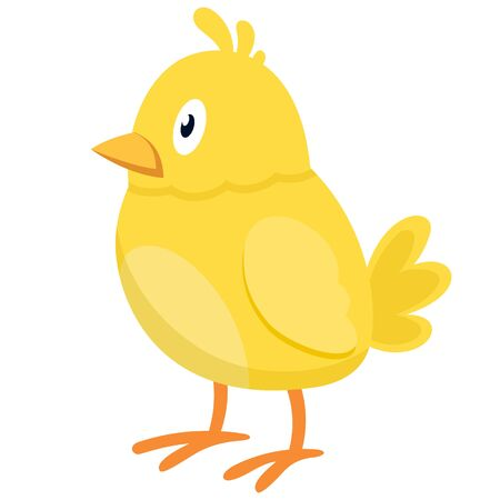 Chick side view. Farm animal in cartoon style. Illusztráció