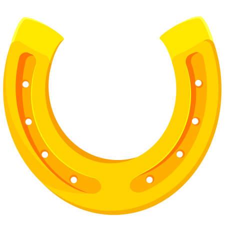 Symbol of good luck. Horseshoe in cartoon style. Vector Illustratie