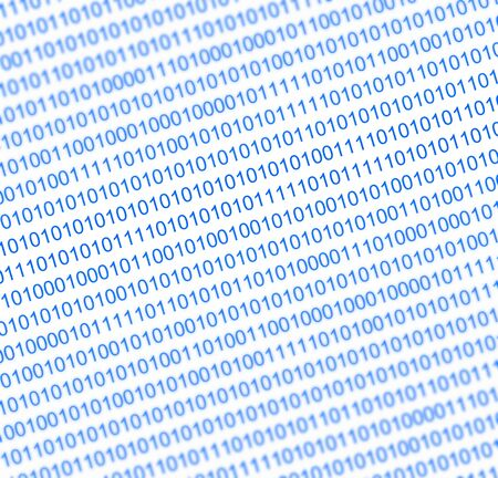 binary numbers background in blue tone photo