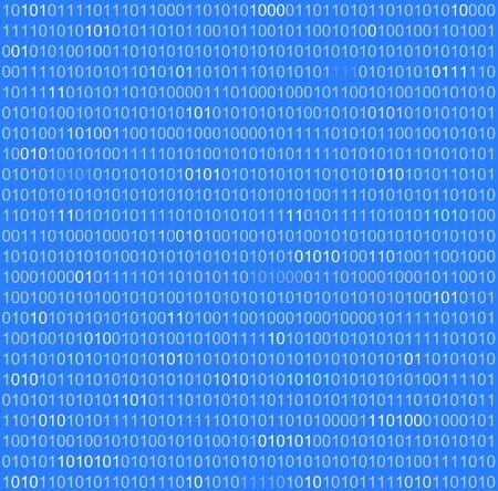 binary numbers background in blue tone photo