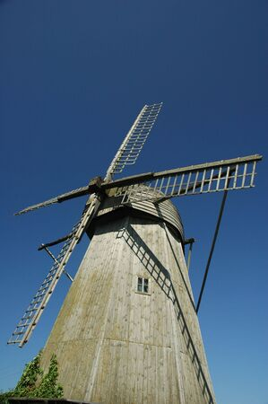 Windmill in Angla on Saarema island, Estonia Stock Photo - 899668