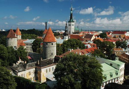 tallinn: Historic Centre (Old Town) of Tallinn. Estonia