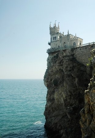 Swallow nest castle by Black Sea. Crimea, Ukraine photo