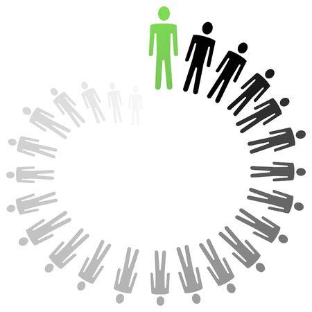 persoonlijke groei: Conceptuele illustratie van persoonlijke groei