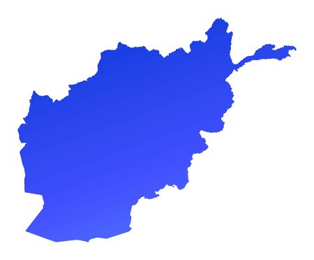 Blue gradient Afghanistan map. Detailed, Mercator projection. Stock Photo - 2106085