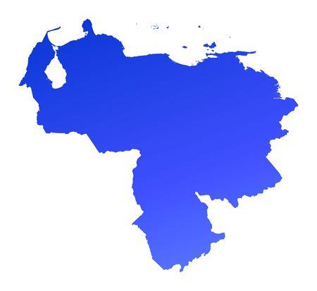 fill: Blue gradient Venezuela map. Detailed, Mercator projection. Stock Photo