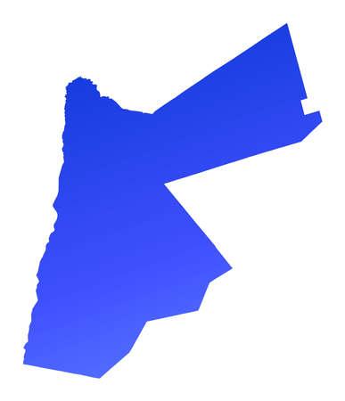 fill: Blue gradient Jordan map. Detailed, Mercator projection.
