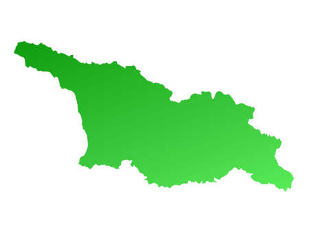 Green gradient Georgia map. Detailed, Mercator projection. Stock Photo - 2158621