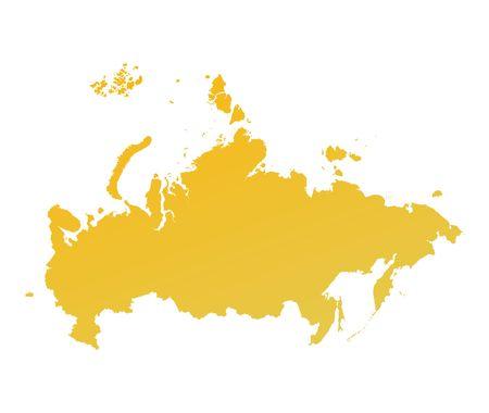 russland karte: Orange Gradienten Russland Karte. Detaillierte, Mercator-Projektion.