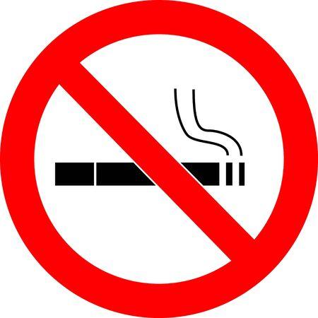 restrict: no smoking sign illustration Stock Photo