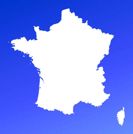 France map on blue gradient background. High resolution. Mercator projection. Stock Photo - 2366761