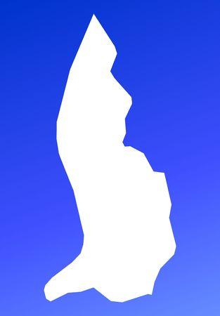 mercator: Liechtenstein map on blue gradient background. High resolution. Mercator projection.