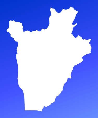 Burundi map on blue gradient background. High resolution. Mercator projection. Stock Photo - 2403056