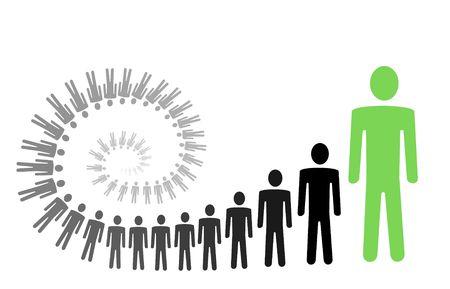 persoonlijke groei: spiraal persoonlijke groei vector illustration Stockfoto
