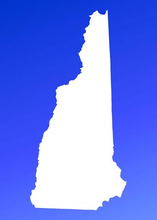 New Hampshire(USA) map on blue gradient background. High resolution. Mercator projection. photo
