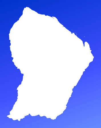 French Guiana map on blue gradient background. High resolution. Mercator projection. photo
