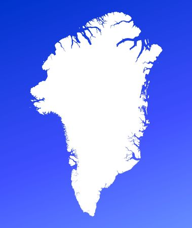 mercator: Greenland map on blue gradient background. High resolution. Mercator projection.