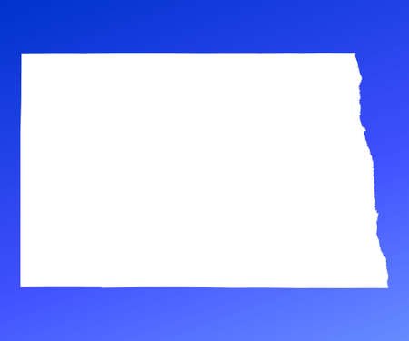 mercator: North Dakota(USA) map on blue gradient background. High resolution. Mercator projection.