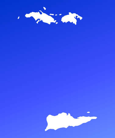 shading: Virgin Islands map on blue gradient background. High resolution. Mercator projection.