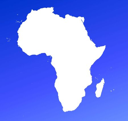 Africa continent map on blue gradient background. High resolution. Mercator projection. Stock Photo - 2442100