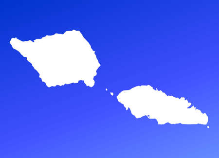 samoa: Samoa map on blue gradient background. High resolution. Mercator projection.