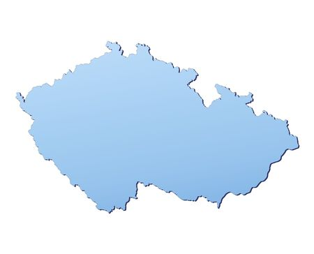 Czech Republic map filled with light blue gradient. High resolution. Mercator projection. Stock Photo - 2442123