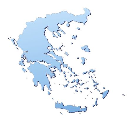Greece map filled with light blue gradient. High resolution. Mercator projection. Stock Photo - 2442132