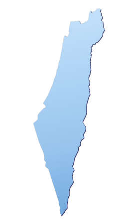 Israel map filled with light blue gradient. High resolution. Mercator projection. photo