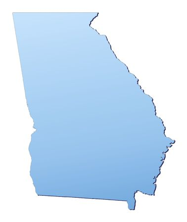 georgia: Georgia(USA) map filled with light blue gradient. High resolution. Mercator projection.