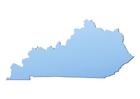 Kentucky(USA) map filled with light blue gradient. High resolution. Mercator projection. Stock Photo - 2455697