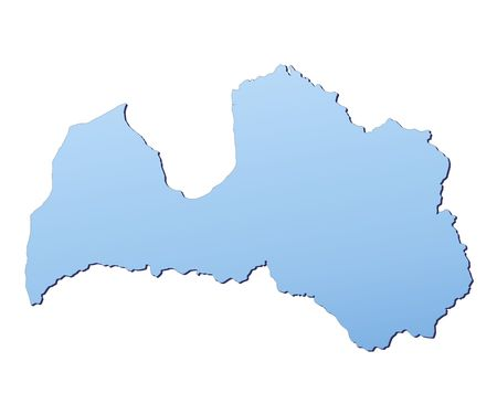 shading: Latvia map filled with light blue gradient. High resolution. Mercator projection.