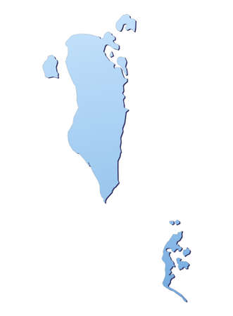 Bahrain map filled with light blue gradient. High resolution. Mercator projection. photo