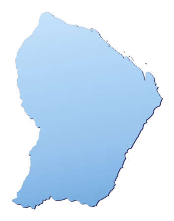 French Guiana map filled with light blue gradient. High resolution. Mercator projection. photo