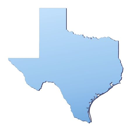 Texas(USA) map filled with light blue gradient. High resolution. Mercator projection. Stock Photo - 2488331