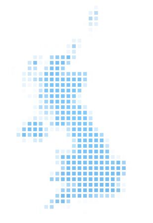 United Kingdom map square mosaic. Easy to recolor. photo