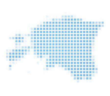 recolor: Estonia map square mosaic. Easy to recolor.