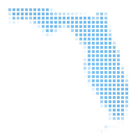 Florida(USA) map square mosaic. Easy to recolor. photo
