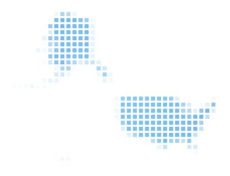 United States map square mosaic. Easy to recolor. photo