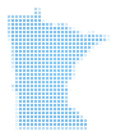 recolor: Minnesota(USA) map square mosaic. Easy to recolor.