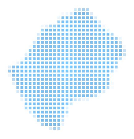 2d map: Lesotho map square mosaic. Easy to recolor.
