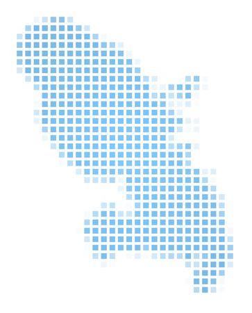 martinique: Martinique map square mosaic. Easy to recolor.