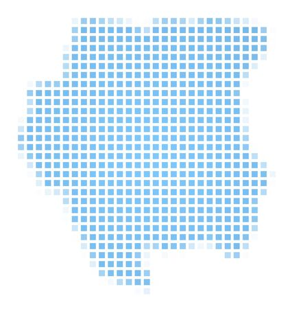 suriname: Suriname map square mosaic. Easy to recolor.