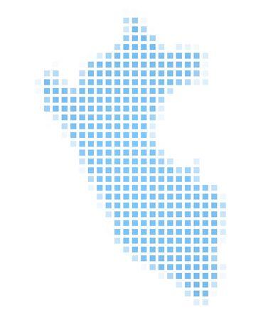 peru map: Peru map square mosaic. Easy to recolor.