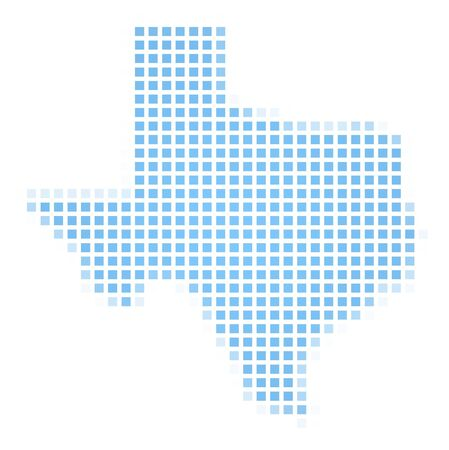 Texas(USA) map square mosaic. Easy to recolor. photo