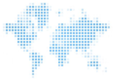 recolor: World map square mosaic. Easy to recolor. Stock Photo