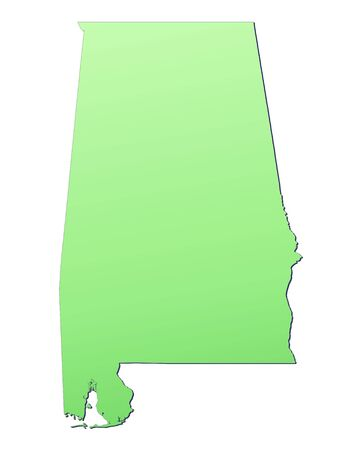 Alabama USA Map Filled With Light Green Gradient High - Free high resolution us map